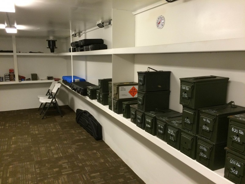 Gun vault rising s company for Built in gun safe room