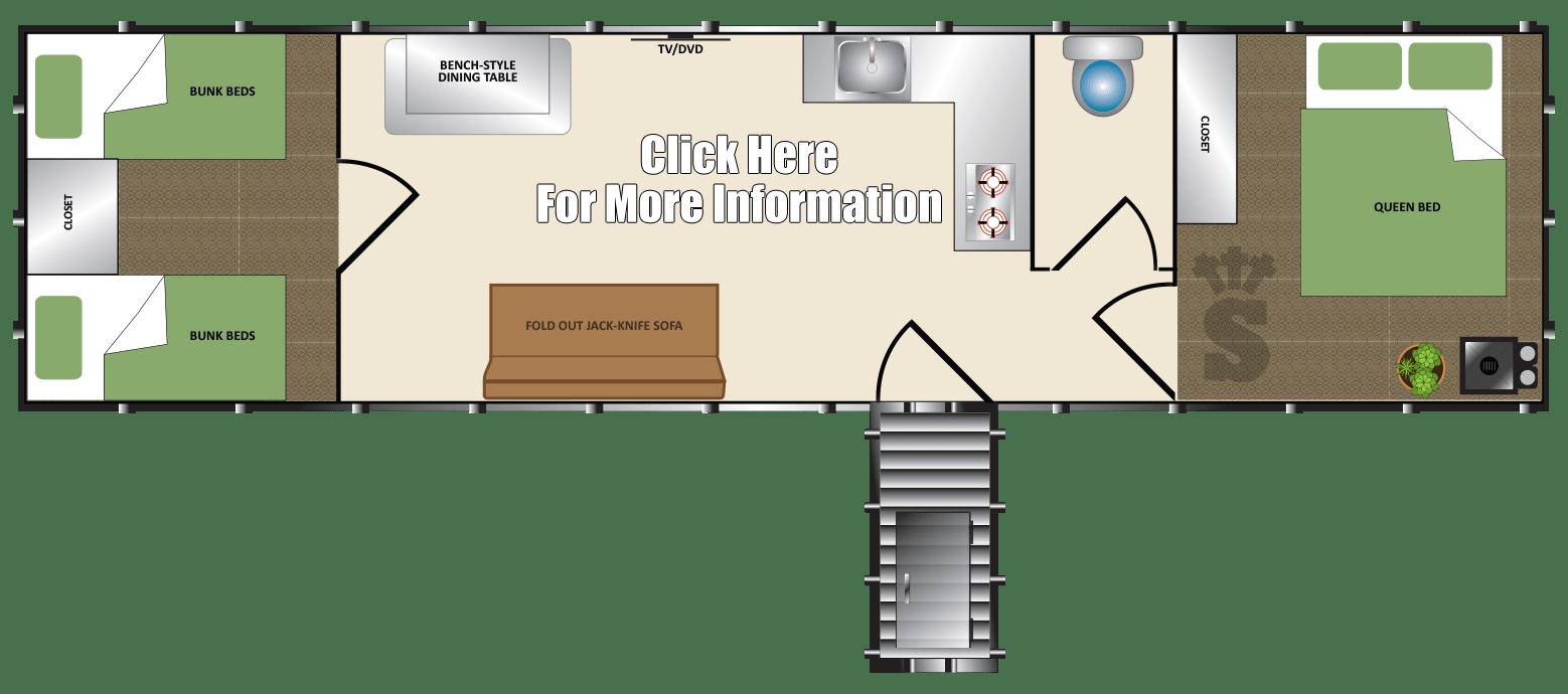 Survival Shelter Base Model 10x40
