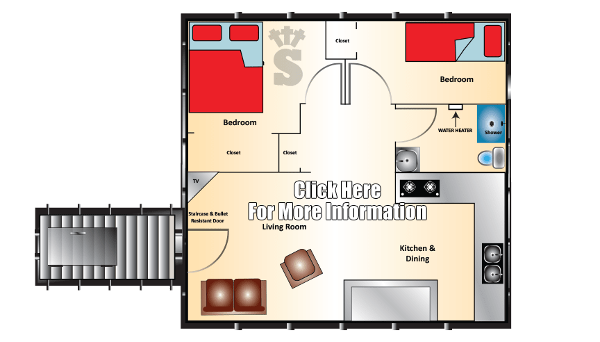 Admiral Series Bomb Shelter 20x20