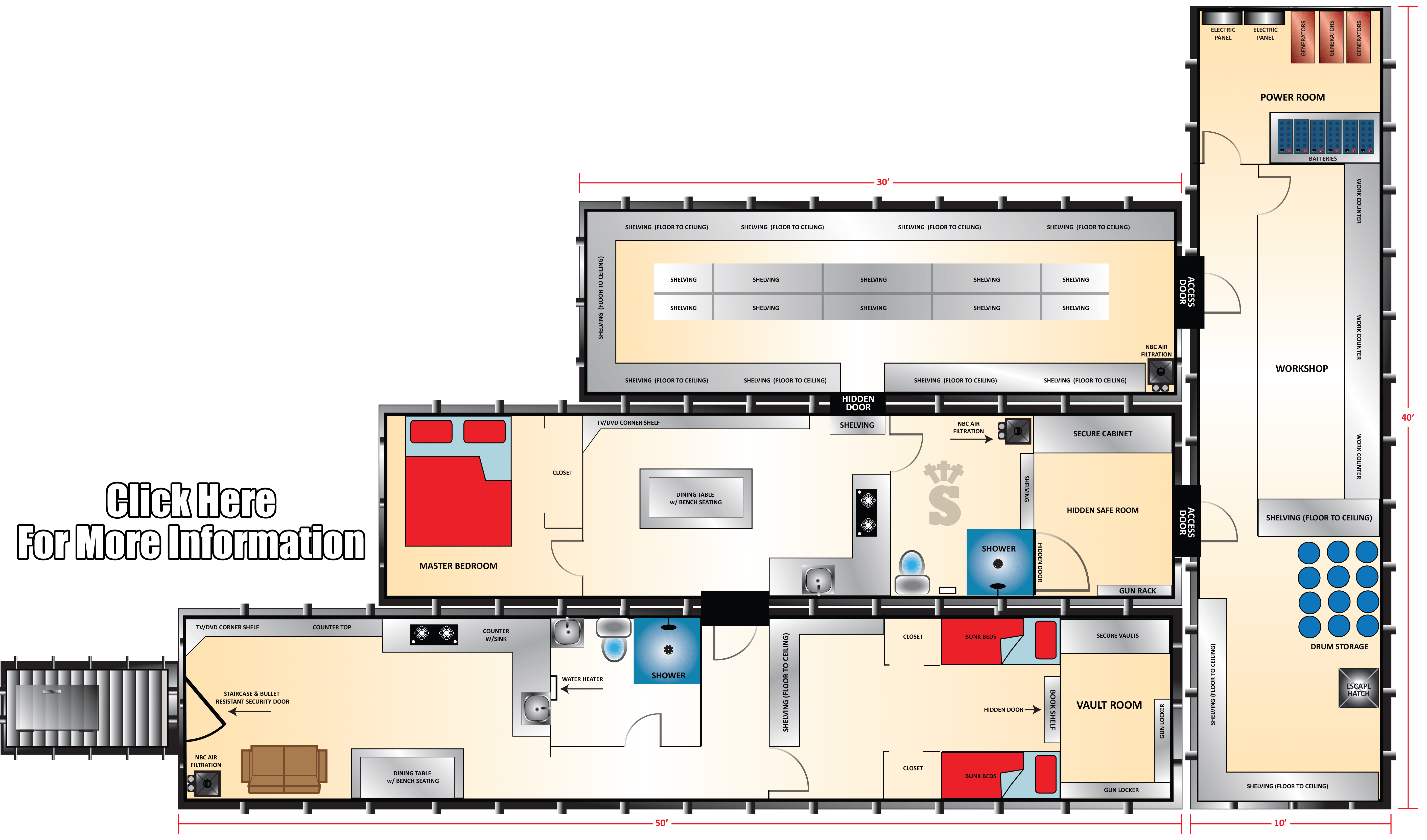 Xtreme series the commander fallout shelter rising s for Household shelter design