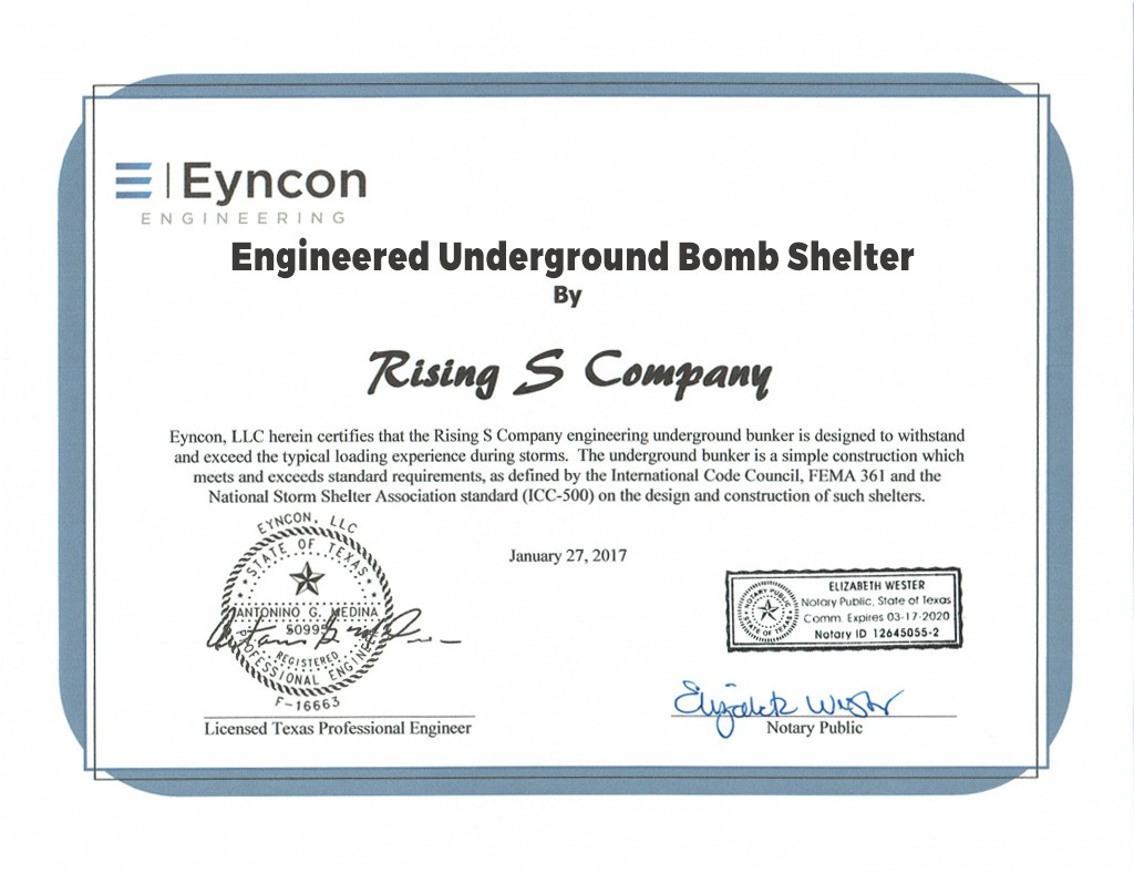 Certifications rising s company rising s is not only the biggest steel shelterbunker manufacturer in america were the best dont take our word for it read what texas tech and others xflitez Gallery